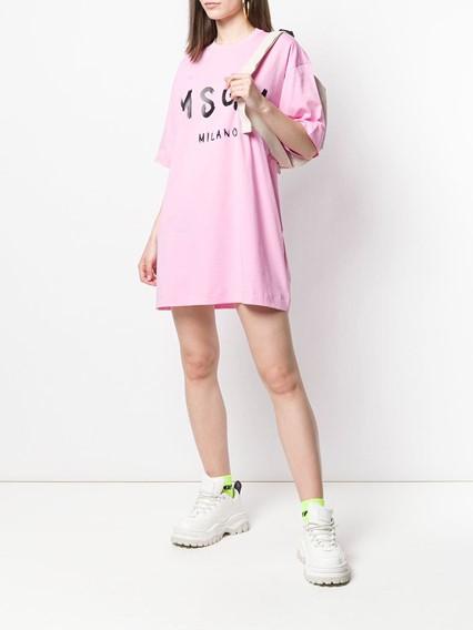 MSGM MAXI T-SHIRT DRESS