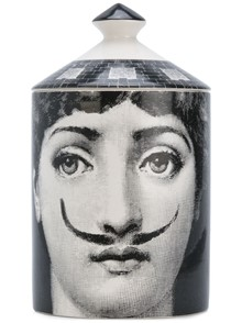 FORNASETTI 300 G NATURAL WAX MOUSTACHES CANDLE
