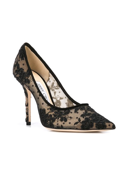 JIMMY CHOO FLORAL LACE PUMPS