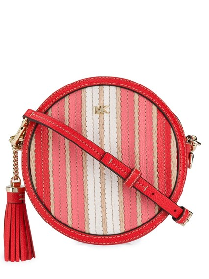 MICHAEL KORS MK STRIPED CROSS BODY BAG