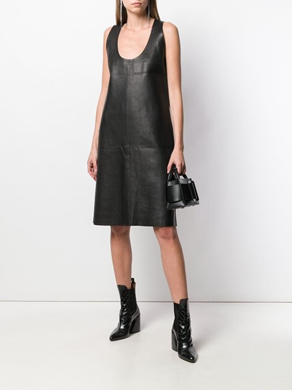 BOTTEGA VENETA LEATHER DRESS
