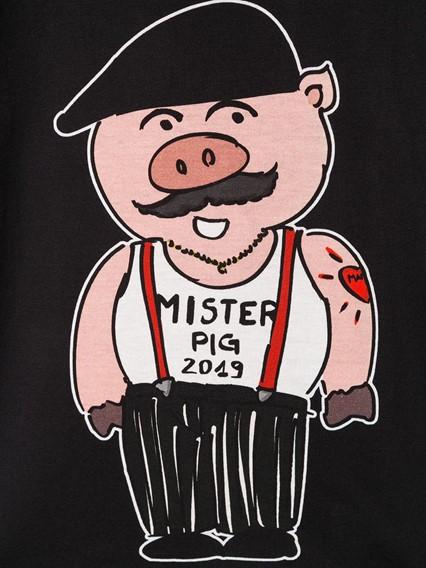 DOLCE & GABBANA KIDS SICILIANO PIG T-SHIRT 0/6Y