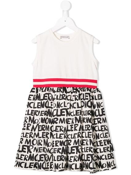 MONCLER KIDS LOGO PRINT DRESS
