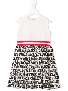 MONCLER KIDS LOGO PRINT DRESS