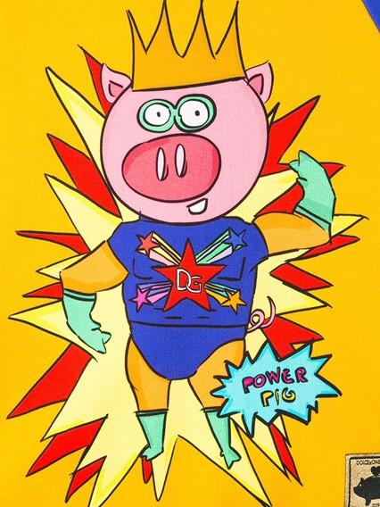 DOLCE & GABBANA KIDS SUPER PIG SWEATSHIRT 0/6Y