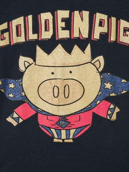 DOLCE & GABBANA KIDS PIG T-SHIRT 8/12Y