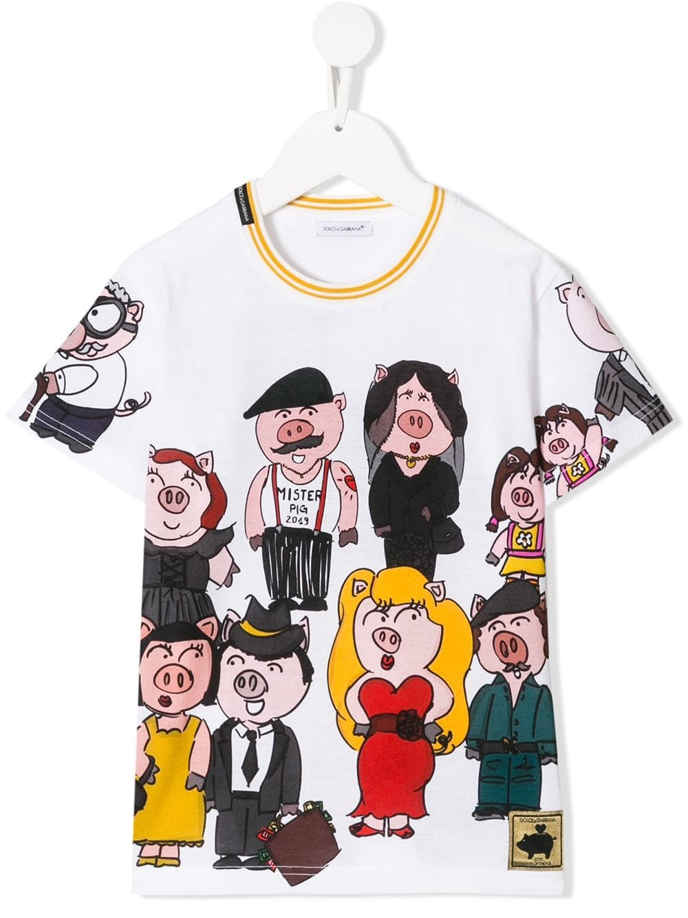 e049488c dolce & gabbana kids FAMILY PIG T-SHIRT 8/12Y available on ...