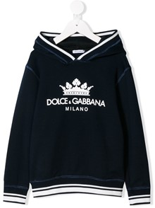 DOLCE & GABBANA KIDS LOGO HOODIE SWEATER 0/6Y