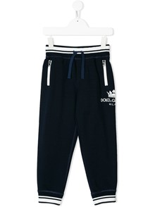 DOLCE & GABBANA KIDS LOGO SPORTY TROUSERS