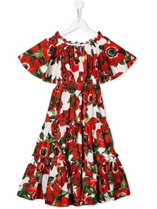 DOLCE & GABBANA KIDS ANEMONI PRINT DRESS 4/6Y