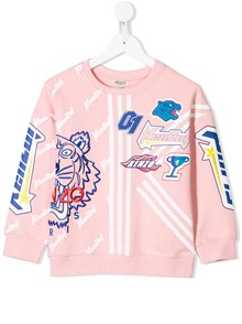 KENZO KIDS LOGO FRILLY SWEATER 8/12Y