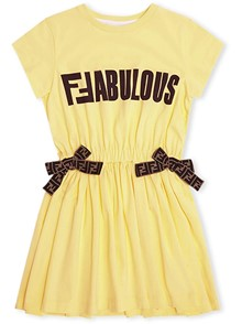 FENDI KIDS JERSEY DRESS 10/12Y