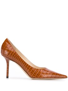 JIMMY CHOO CROC EMBOSSED PUMPS