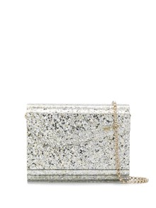 JIMMY CHOO COARSE GLITTER ACRYLIC BAG