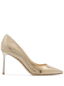 JIMMY CHOO LIQUID MIRROR LEATHER PUMPS