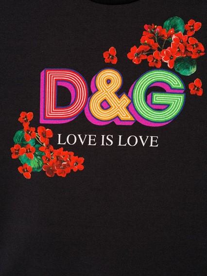 DOLCE & GABBANA KIDS LOGO T-SHIRT 8/12Y