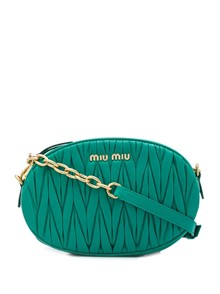 MIU MIU QUILTED LEATHER CROSS BODY BAG