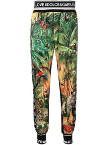 DOLCE & GABBANA PRINTED SPORTY TROUSERS