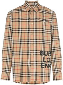 BURBERRY LONDON ENGLAND CHECK MOTIF SHIRT
