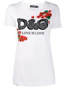 DOLCE & GABBANA LOGO PRINT T- SHIRT