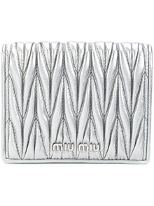 MIU MIU QUILTED LEATHER WALLET
