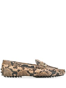 TOD'S SNAKEPRINT LOAFERS
