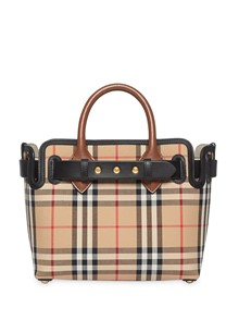 BURBERRY LONDON ENGLAND TOTE BAG WITH BELT