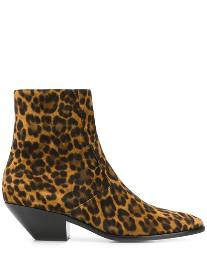 SAINT LAURENT ANIMAL PRINT BOOTS