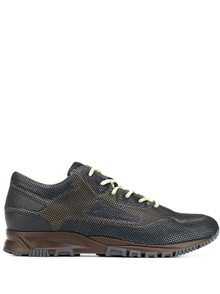 LANVIN   RUNNING MESH AND VELVET SKIN SNEAKERS