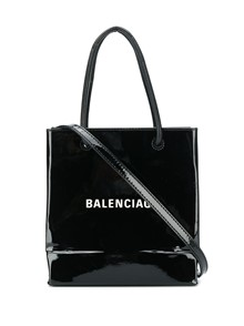 BALENCIAGA LOGO MINI TOTE WITH STRAP
