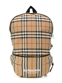 BURBERRY KIDS REX ARCHIVE STRIPE BACKPACK