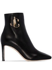 JIMMY CHOO LOGO ANKLE BOOTS
