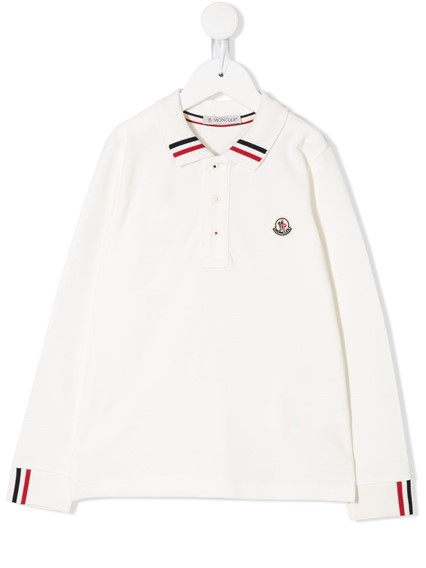 MONCLER KIDS LONG SLEEVE POLO (8/10Y)