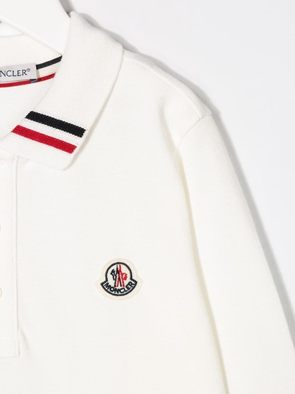 MONCLER KIDS LONG SLEEVE POLO (12Y)