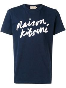 MAISON KITSUNÈ BRAND NAME T-SHIRT