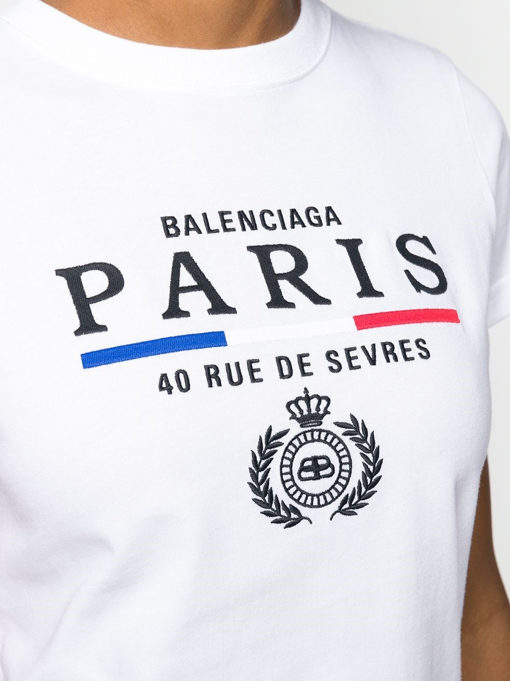 balenciaga PARIS LOGO T SHIRT available on