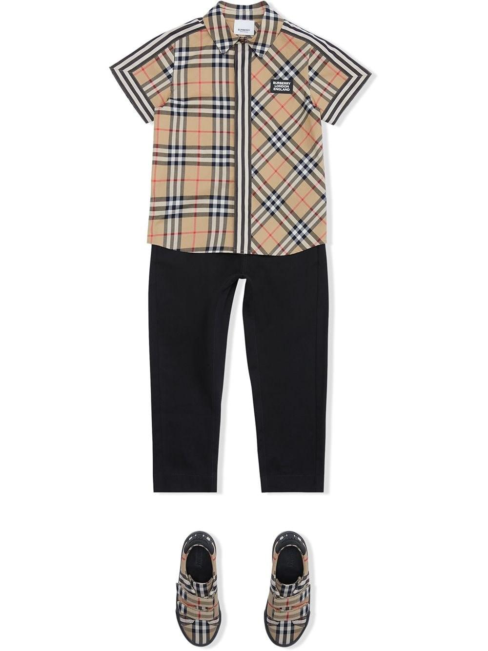 Burberry Boys' Barrett Vintage Check Shirt - Little Kid, Big Kid In Archive Beige