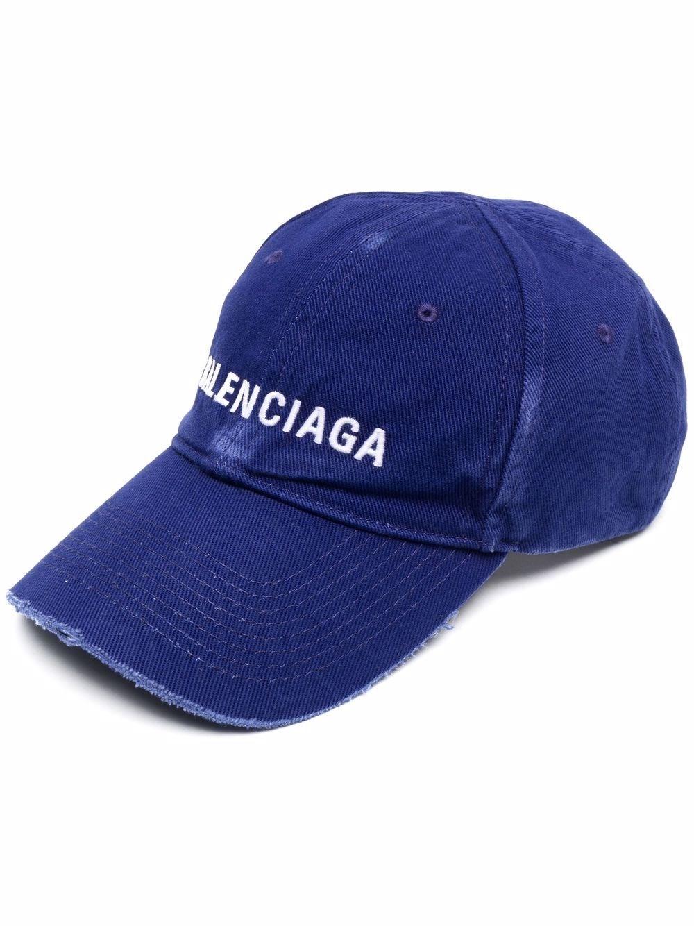 Balenciaga Cappello Baseball In Blue