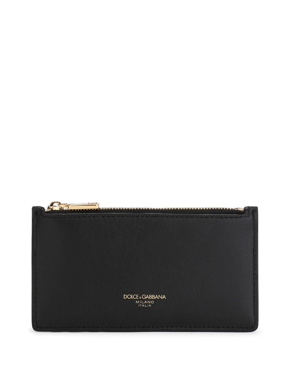 Dolce & Gabbana Branded Card Holder In Black
